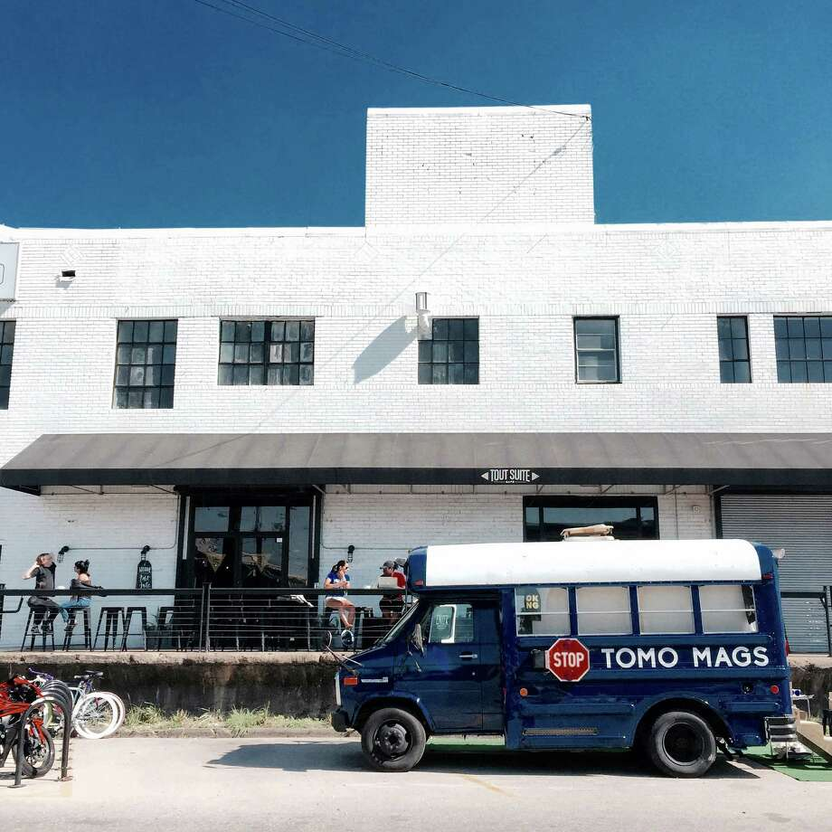 TOMO Mags is a magazine bus in Houston that offers  independent and international magazines, as well as stationery and journals. Photo: TOMO Mags