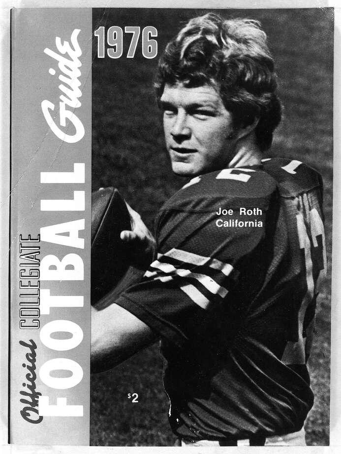 Joe Roth, Cal Football quarterback, as cover boy for a football guide.