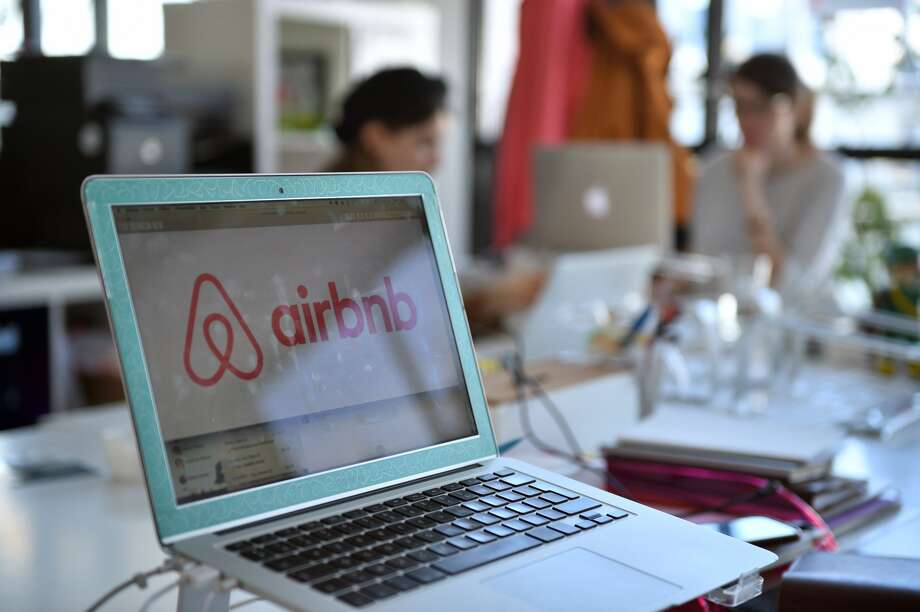 A picture shows the logo of online lodging service Airbnb displayed on a computer screen in the Airbnb offices in Paris on April 21, 2015. AFP PHOTO / MARTIN BUREAU (MARTIN BUREAU/AFP/Getty Images)