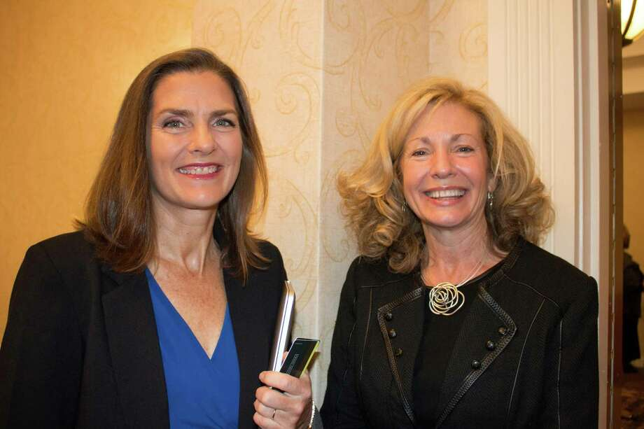 Were you Seen at the Capital Region Chamber's Bold in Business Annual Forum at the Albany Marriott in Colonie on Thursday, Oct. 22, 2015? The guest speaker was Brigid Schulte, journalist and author of The New York Times best-seller 'Overwhelmed: Work, Love and Play When No One Has the Time.' Photo: BRIAN MOAK, Robin Granger