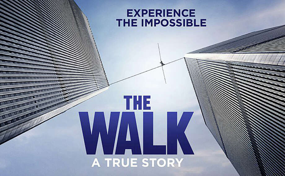"The new movie ""The Walk""  chronicles French aerialist Philippe Petit's walk across a wire between the ill-fated Twin Towers of the World Trade Center in 1974. Photo: Contributed / Contributed Photo / Westport News"