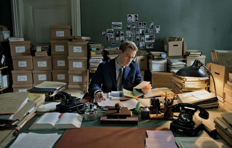 """German actor Alexander Fehling as the young prosecutor Johann Radmann in the new film """"Labyrinth of Lies,"""" about the Frankfurt Auschwitz Trials.  Photo by Heike Ullrich/Courtesy of Sony Pictures Classics Photo: Heike Ullrich, Handout / ONLINE_YES"""