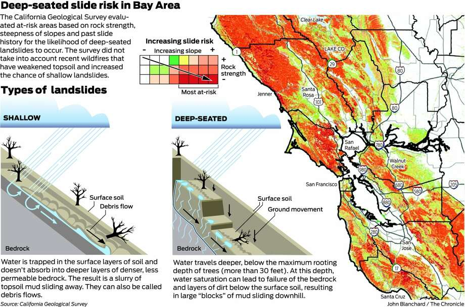 Map Of California Flooding.California S Next Worry Mudslides From El Nino Rains Sfgate