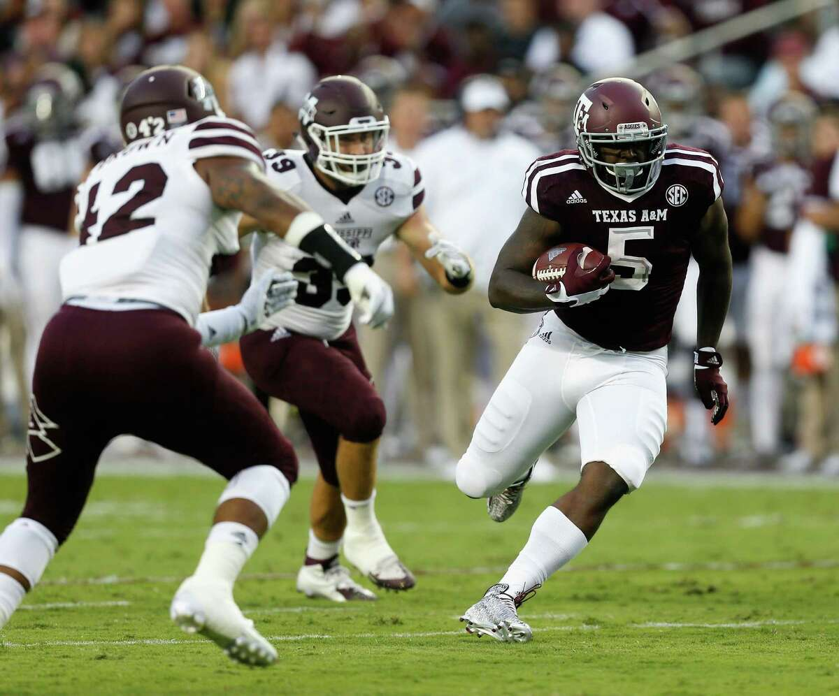 RUNNING BACK A&M features a 1,000-yard rusher in Tra Carson (5) who's angling for a memorable close to his college career. The Cardinals rely on the QB Jackson in the run game, as he leads the team with 734 rushing yards. Edge: A&M