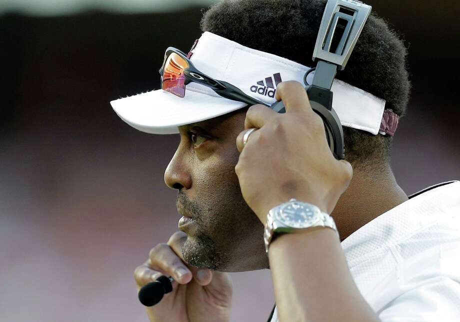 Texas A&M head coach Kevin Sumlin watches from the sideline during the second half against Alabama on Oct. 17, 2015, in College Station. Photo: Eric Gay /Associated Press / AP