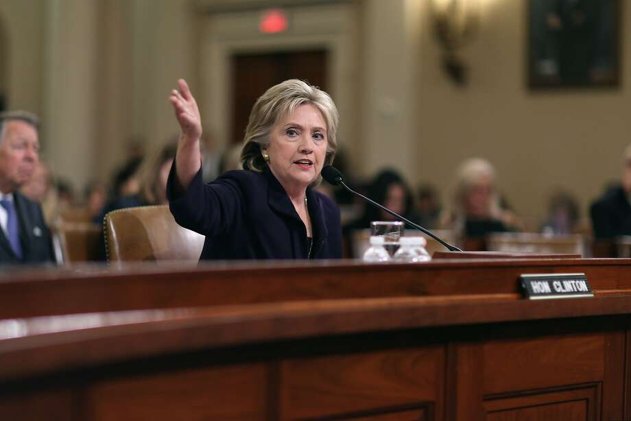 Hillary Rodham Clinton calmly responded to questions during a hearing of the House Select Committee on Benghazi. Photo: Chip Somodevilla, Getty Images