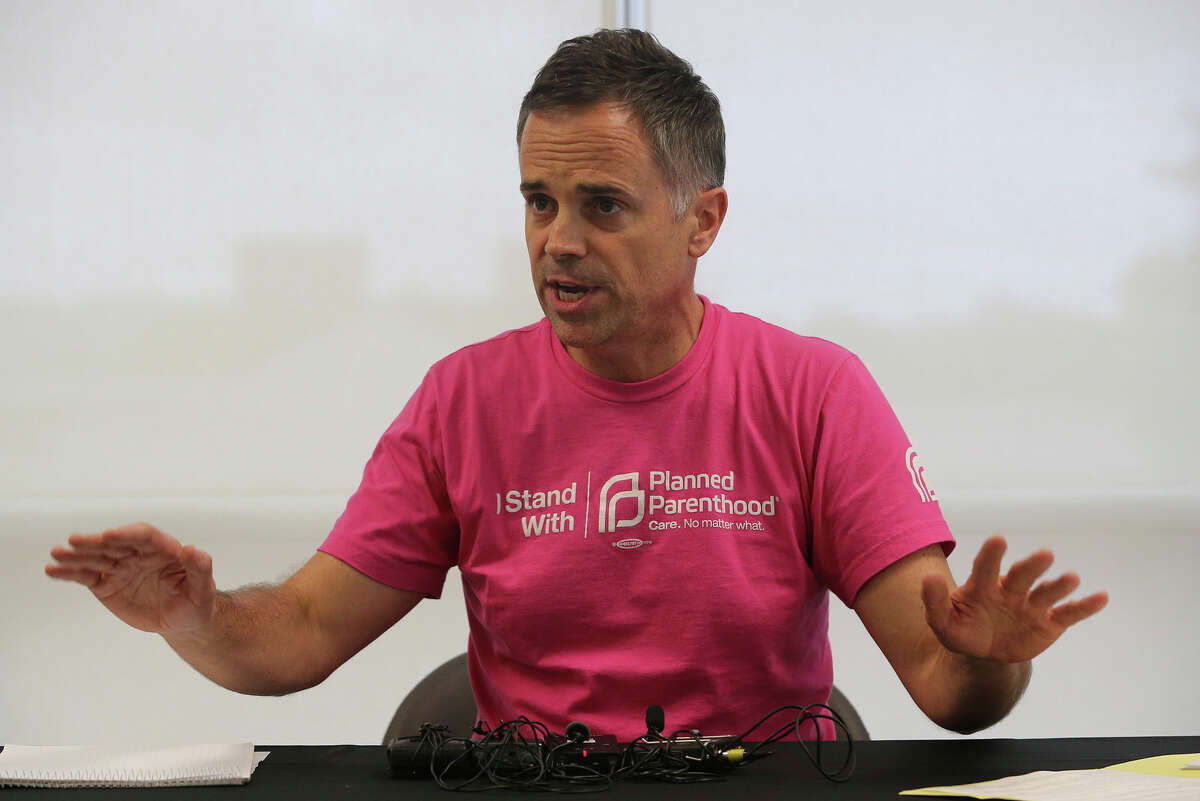 """Planned Parenthood South Texas CEO Jeffrey Hons speaks Thursday October 22, 2015 at Planned Parenthood in San Antonio about state officials who visited their site, took pictures and inspected their surgery center and told them to produce documents containing private information about their staff. Hons described the action as """"an outrageous misuse of power."""""""
