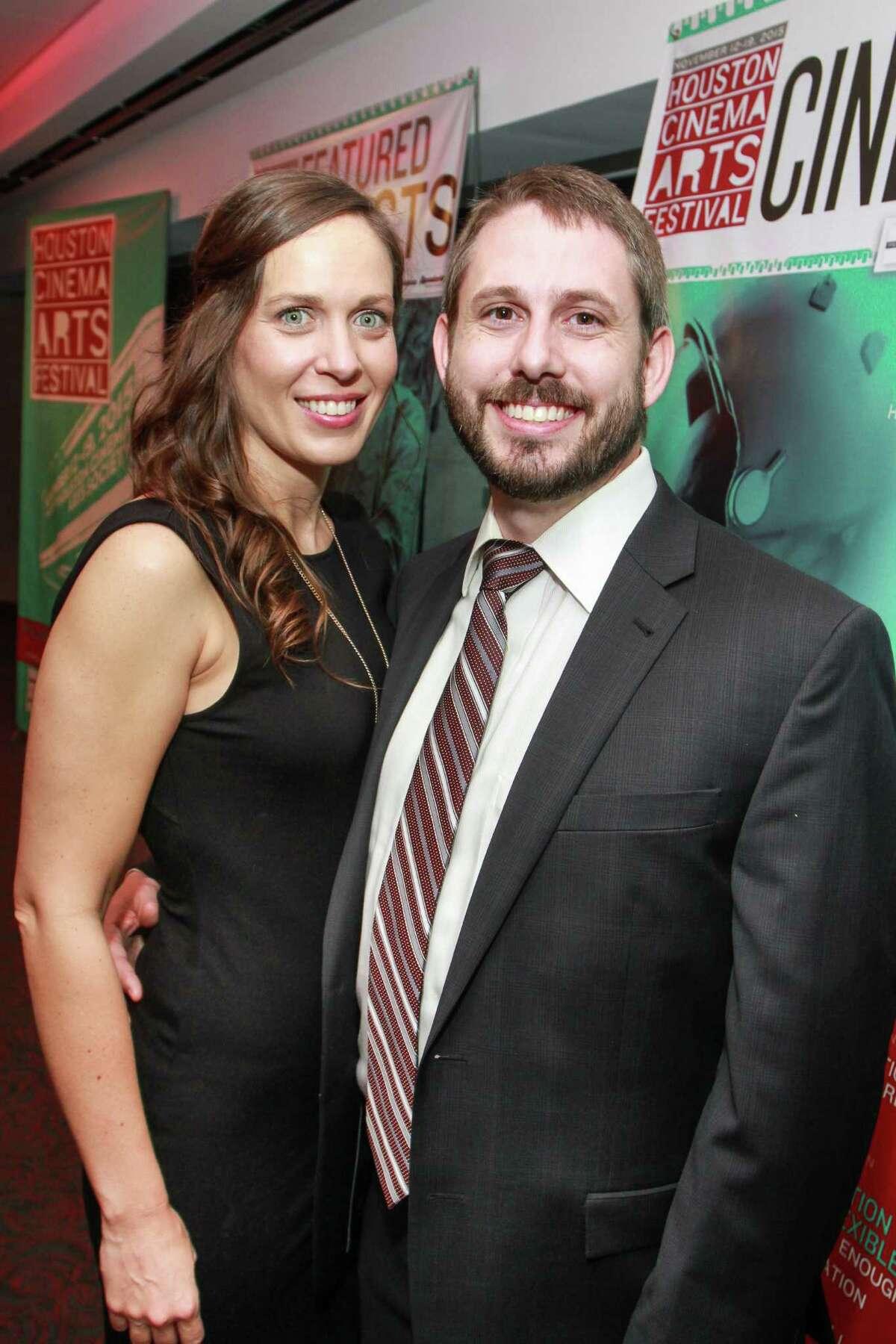 Kelley Evans and Brian Kelly