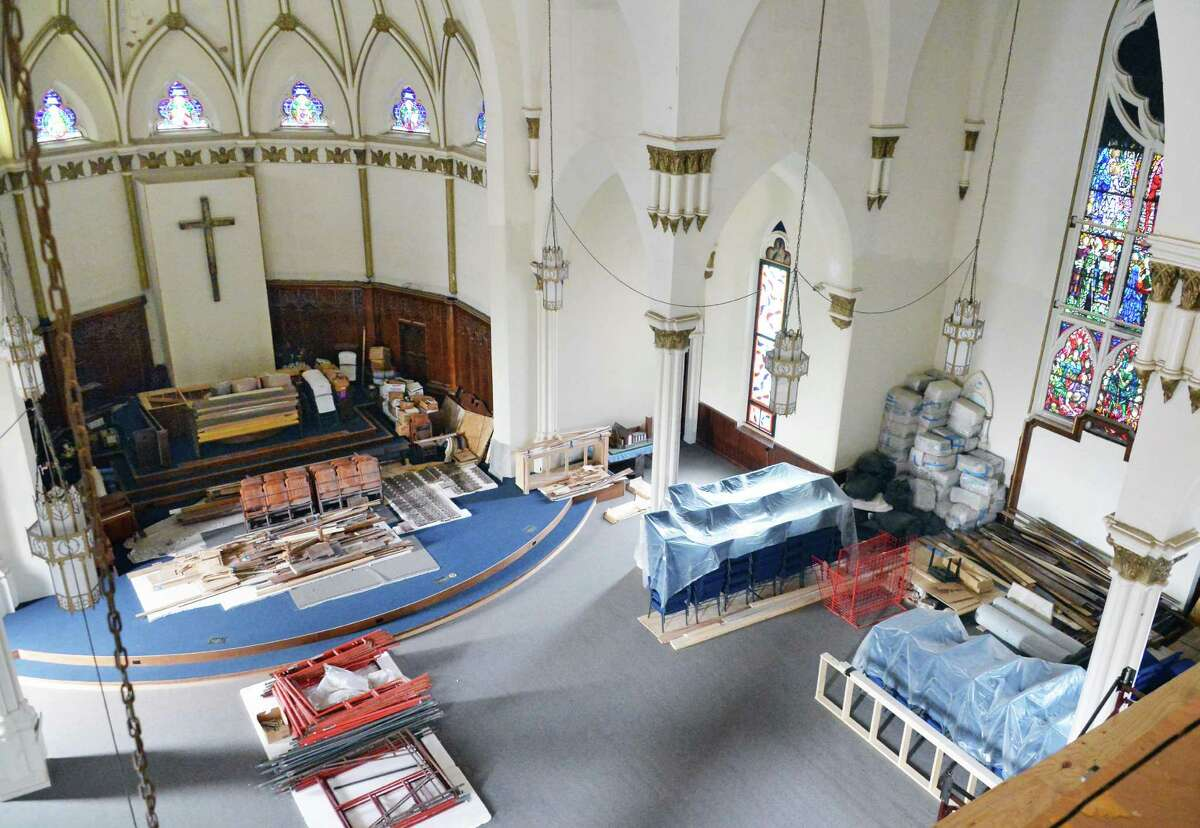 Construction for the Connect Center for Youth in the former St. Agnes Catholic Church, now Williams' Good Ground Family Church Thursday Oct. 22, 2015 in Cohoes, NY. .(John Carl D'Annibale / Times Union)