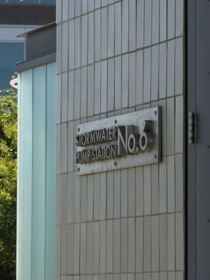 Mission Bay's Stormwater Pump Station #6 is one of the smallest -- but most distinctive -- structures in the emerging neighborhood near AT&T Park. The architect is the firm Tom Eliot Fisch. Photo: John King, The Chronicle