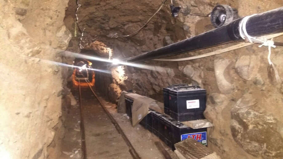 Police say an underground tunnel was built to smuggle drugs into the United States from Tijuana, Mexico. The passage is about 2,600 feet long. Photo: Mexico Federal Police /Associated Press / Mexico Federal Police