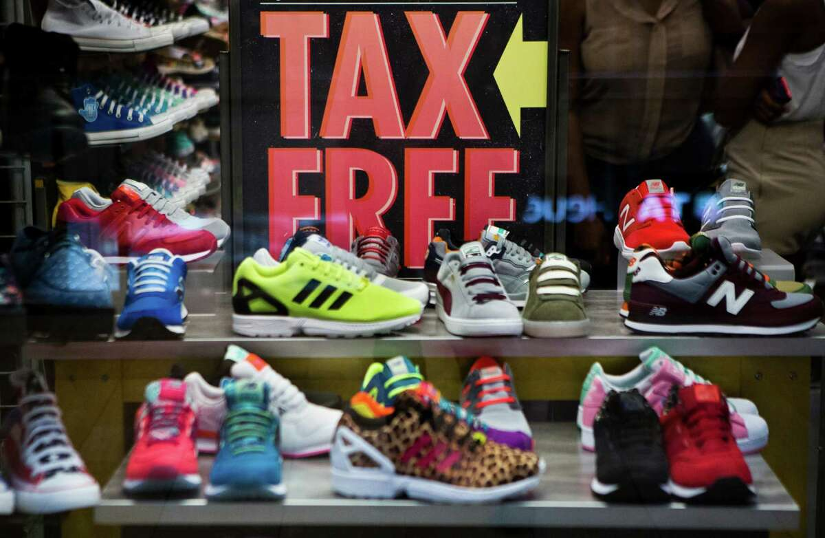 Shoes, clothing and school supplies are tax-exempt on the state's annual tax-free weekend.