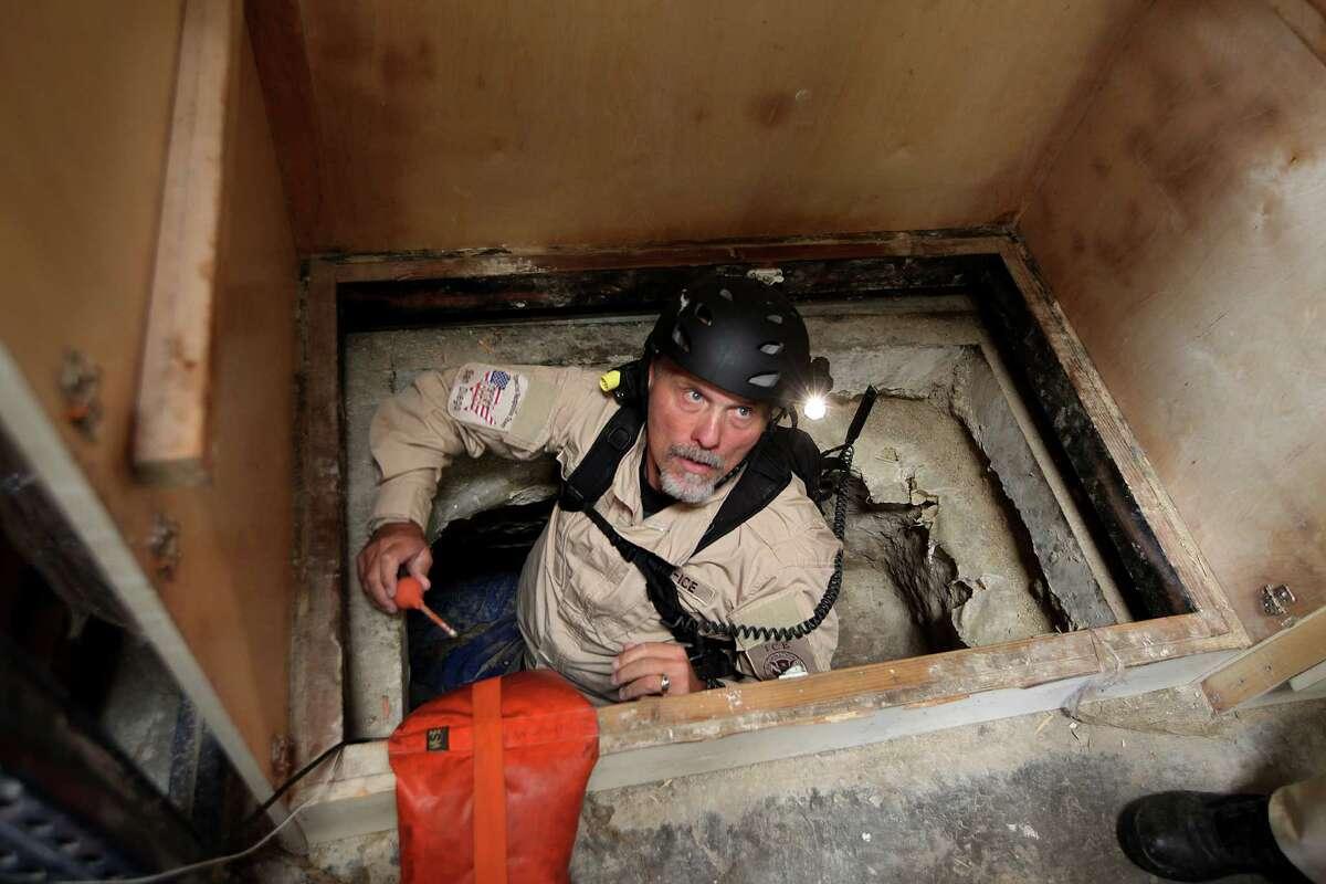OTAY MESA - NOVEMBER 4: A Homeland Security Special Agent, who chose to remain unidentified, prepares to go into a drug tunnel found by agents at a warehouse near the U.S.-Mexico border on Thursday, November 4, 2010. Authorities confiscated over 30 tons of Marijuana in the tunnel, which connected to a warehouse in Tijuana,Mexico, and is one of the largest pot seizures in United States history.