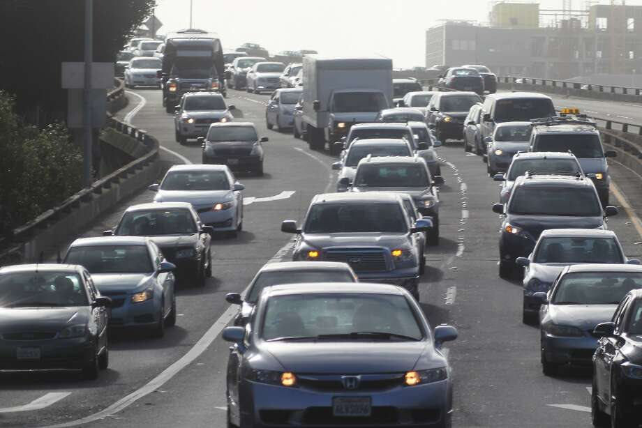 The study was based on 1.3 million trips taken by 100,000 drivers who  traveled 21.9 million miles on Bay Area streets and freeways between  Nov. 1 and Nov. 17. Photo: Lea Suzuki, The Chronicle