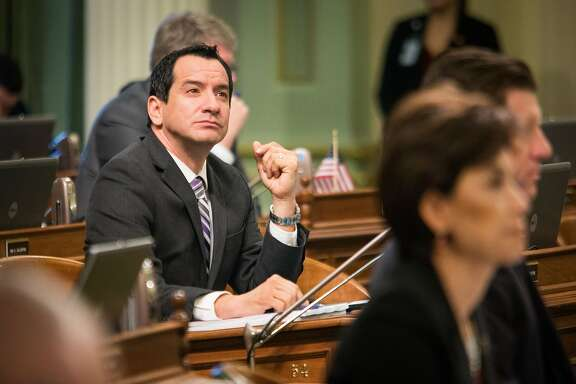 Incoming Assembly speaker Anthony Rendon. Assemblymember Anthony Rendon (D-South Gate) in the Assembly chambers, September 10, 2015 at the State Capitol in Sacramento, California.
