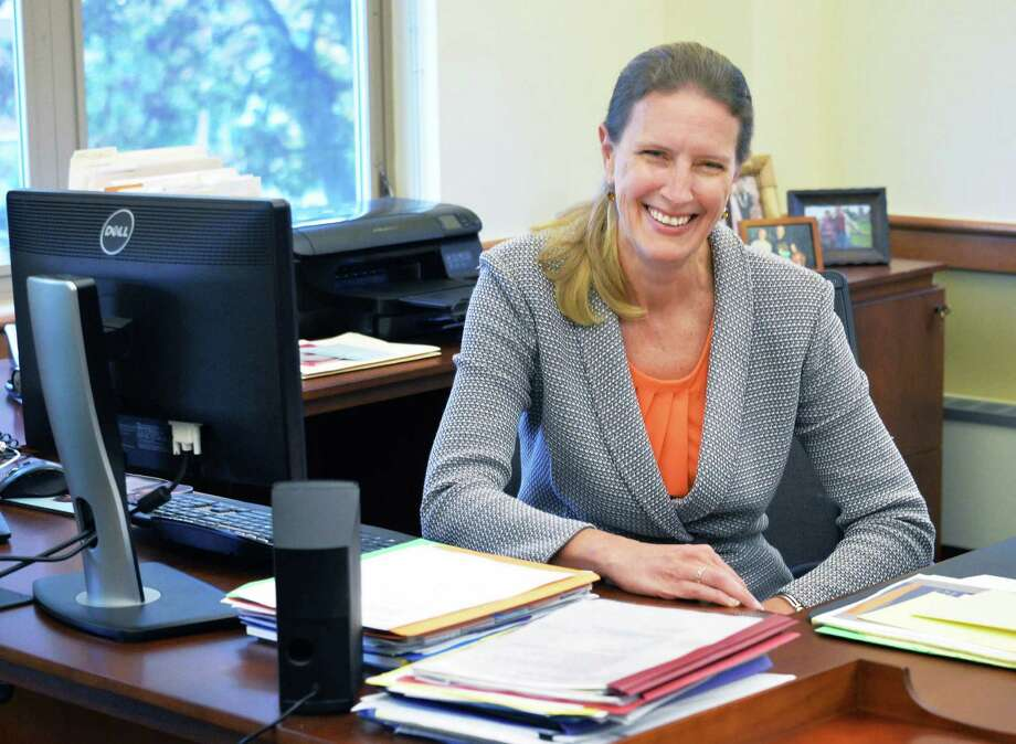 Empire State College President Merodie Hancock in her offices at the college headquarters Thursday Oct. 22, 2015 in Saratoga Springs, NY.  (John Carl D'Annibale / Times Union) Photo: John Carl D'Annibale / 10033905A
