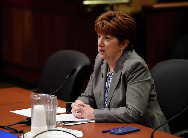 Albany Mayor Kathy Sheehan gives appears during a hearing by the Assembly Standing Committee on Local Governments and the Assembly Standing Committiee on Cities at the Legislative Thursday morning  Oct. 22, 2015 in Albany, N.Y.   (Skip Dickstein/Times Union) Photo: SKIP DICKSTEIN / 10033725A