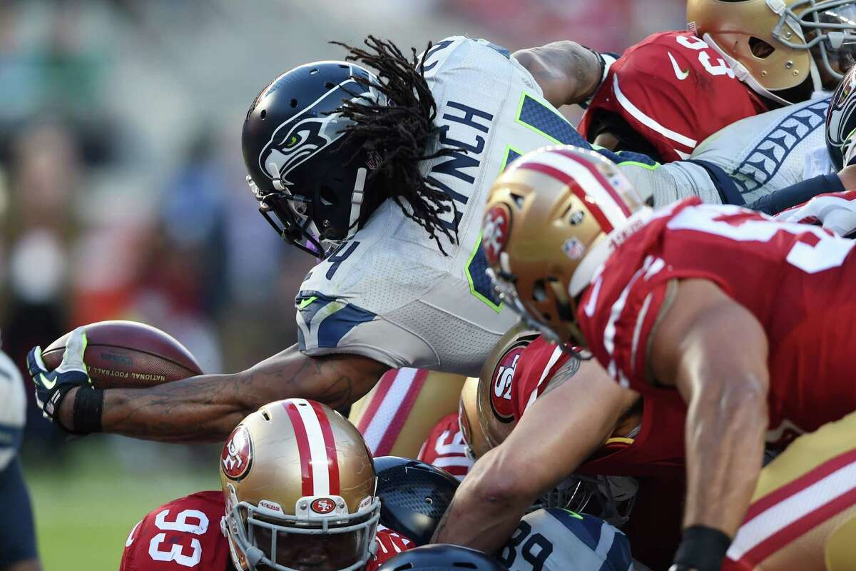 Lynch can still go Beast Mode It's been a while since fans have seen how well a healthy Marshawn Lynch runs. The 29-year-old running back has battled injuries through the first seven games, but he put in easily his best performance of the season Thursday while rushing 27 times for 122 yards and a touchdown. According to ESPN Stats & Info, it was Lynch's 25th 100-yard rush game as a Seahawk. That's second behind only Shaun Alexander, who had 37. Lynch's first 100-yard game of the season was impressive, considering he spent a portion of the first quarter leaning over a trash can and puking with a towel draped over his head.