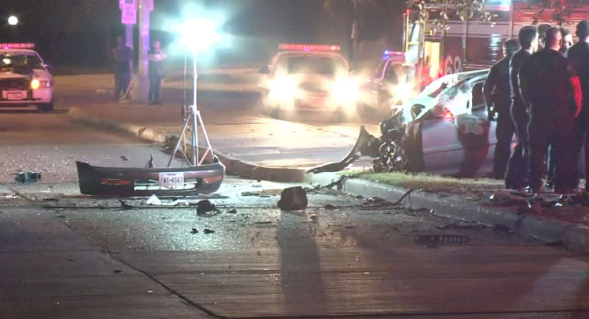 One passenger died in a wreck that tore a car in two pieces Thursday night near S. Gessner and Bissonet.