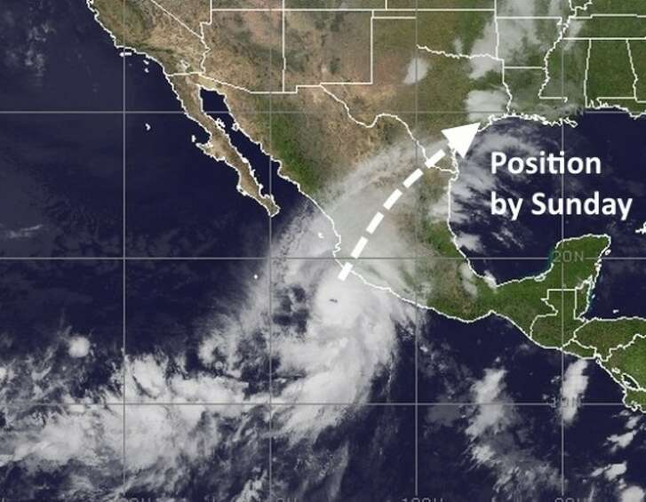 The movement of Hurricane Patricia. (NOAA)
