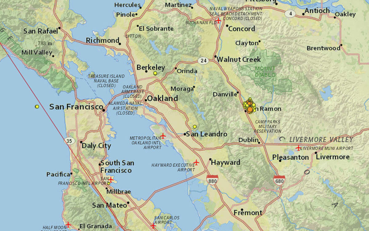 A magnitude-3.2 earthquake shook the East Bay the morning of Friday, Oct. 23, 2015, one of more than 200 small quakes to hit the area over the last couple weeks.