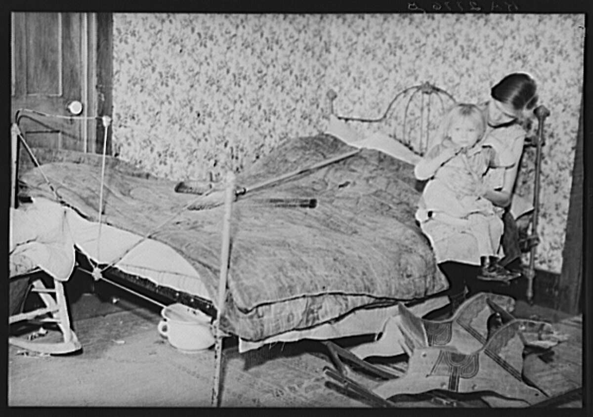 Family of Resettlement Administration workers whose land, near Rensselaer, New York, has been optioned for wildlife area. The mother is pregnant and suffering from tuberculosis. Albany County, New York, 1936
