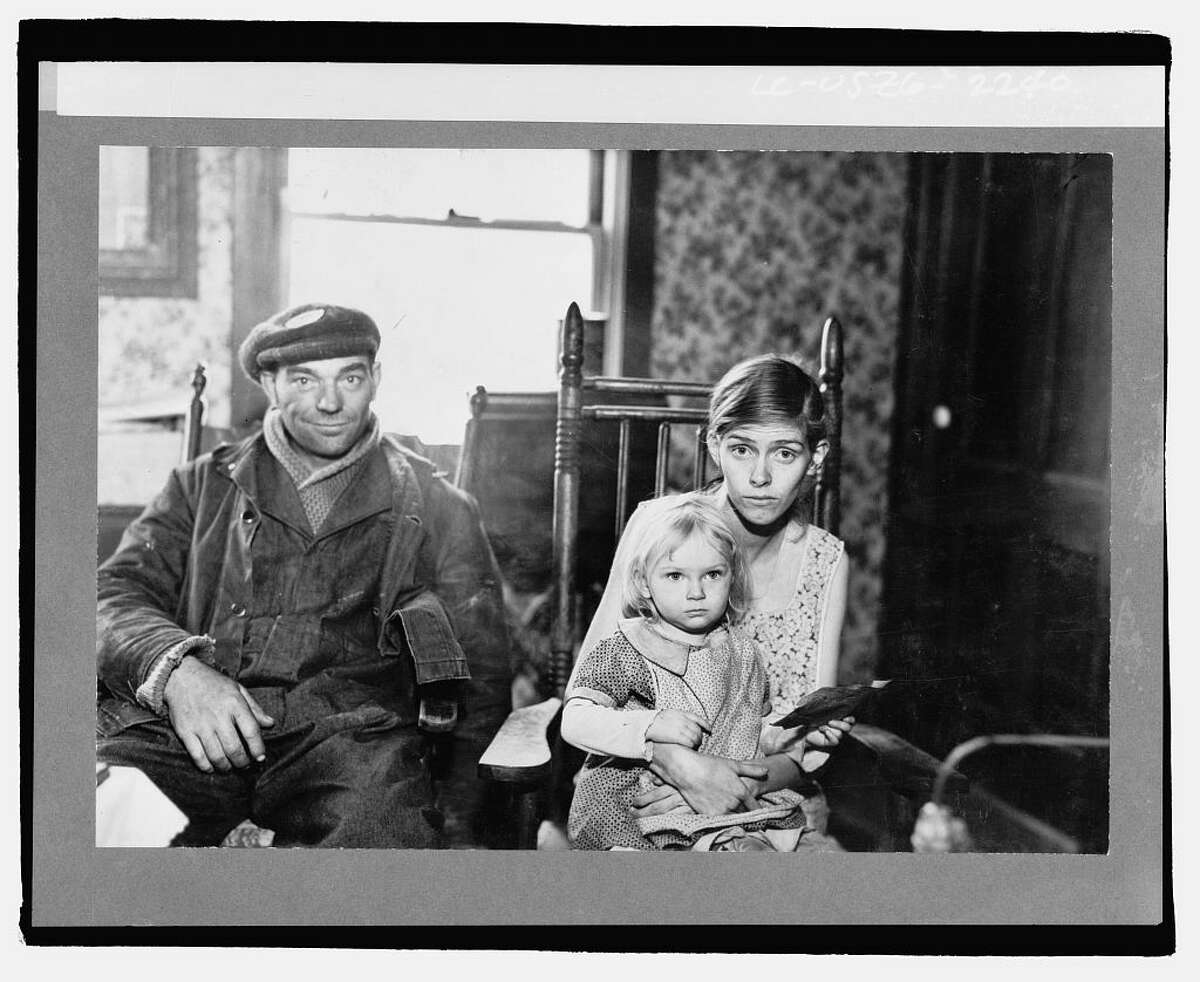 Family stricken by tuberculosis. Husband is working on wildlife project. Albany County, New York, 1936