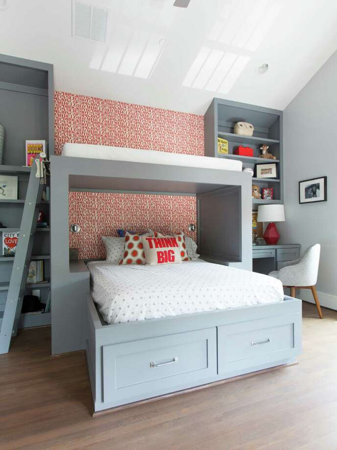"Houston designer Laura Umansky's entry for HGTV's ""Fresh Faces of Design"" competition is a fresh and colorful kid's room with custom bunk beds and fun pops of color. Photo: Julie Soefer"