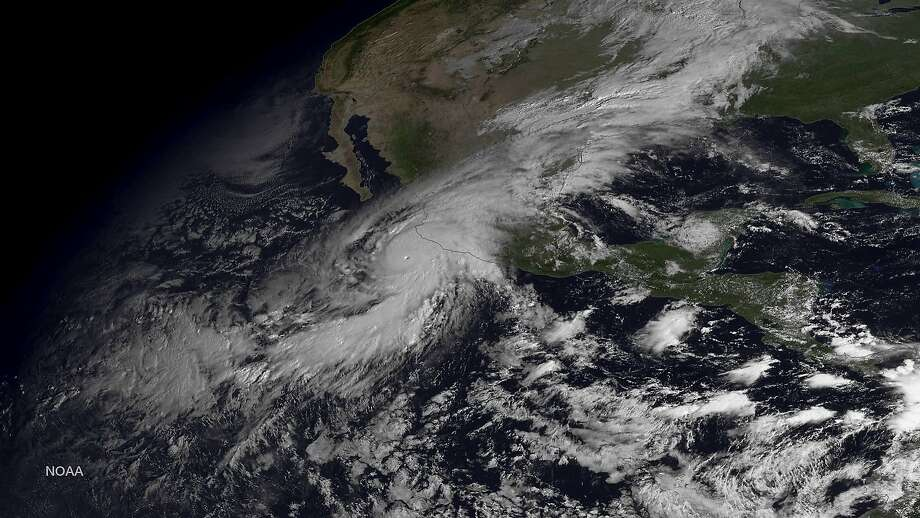 IN SPACE - OCTOBER 23: In this handout from the National Oceanic and Atmospheric Administration (NOAA), Hurricane Patricia is seen churning in the Pacific on October 23, 2015.  The now category 5 hurricane is heading towards Mexico and is being called the strongest hurricane ever recorded in the western hemisphere.  (Photo by NOAA via Getty Images) Photo: Handout, Getty Images