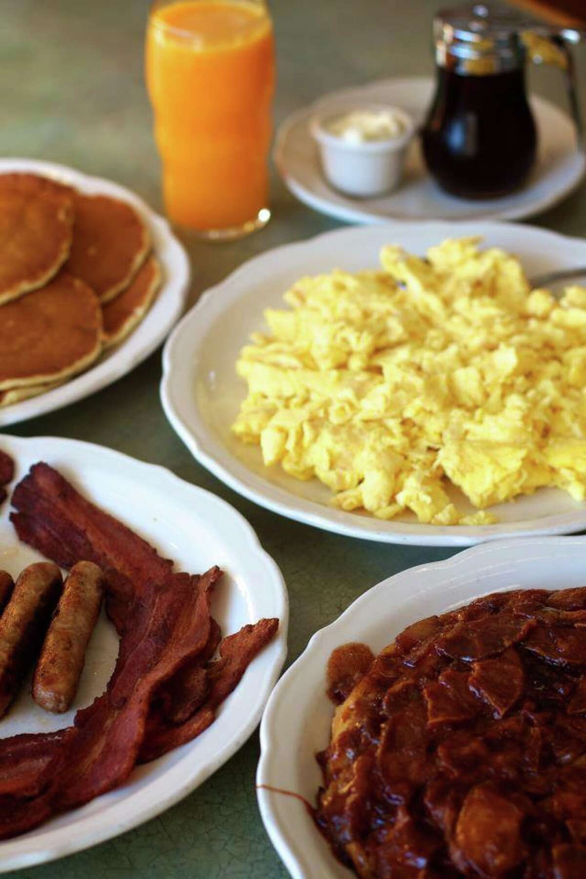 Breakfast spread at The Original Pancake House.