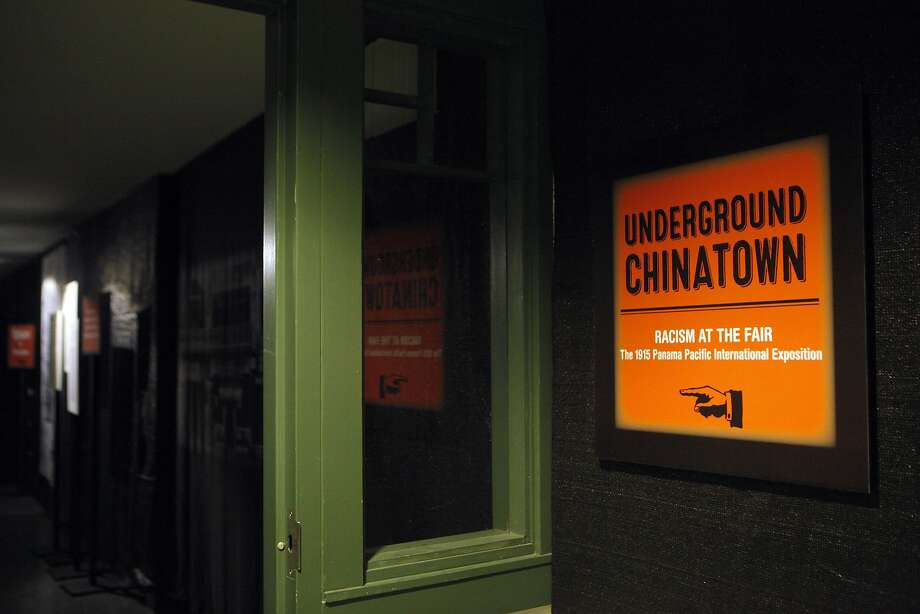 Entrance to the Underground Chinatown exhibit  is located in the lower level of the Chinese Historical Society of America Museum at 965 Clay Street. Taken on October 24, 2015. Photo: Franchon Smith, The Chronicle