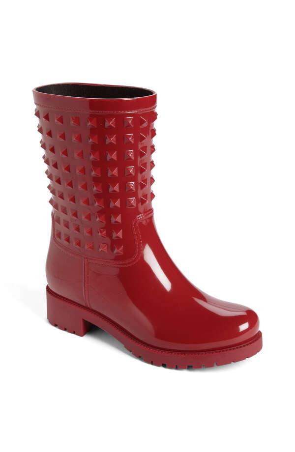 Valentino Rockstud rain boot, $455, Nordstrom.com