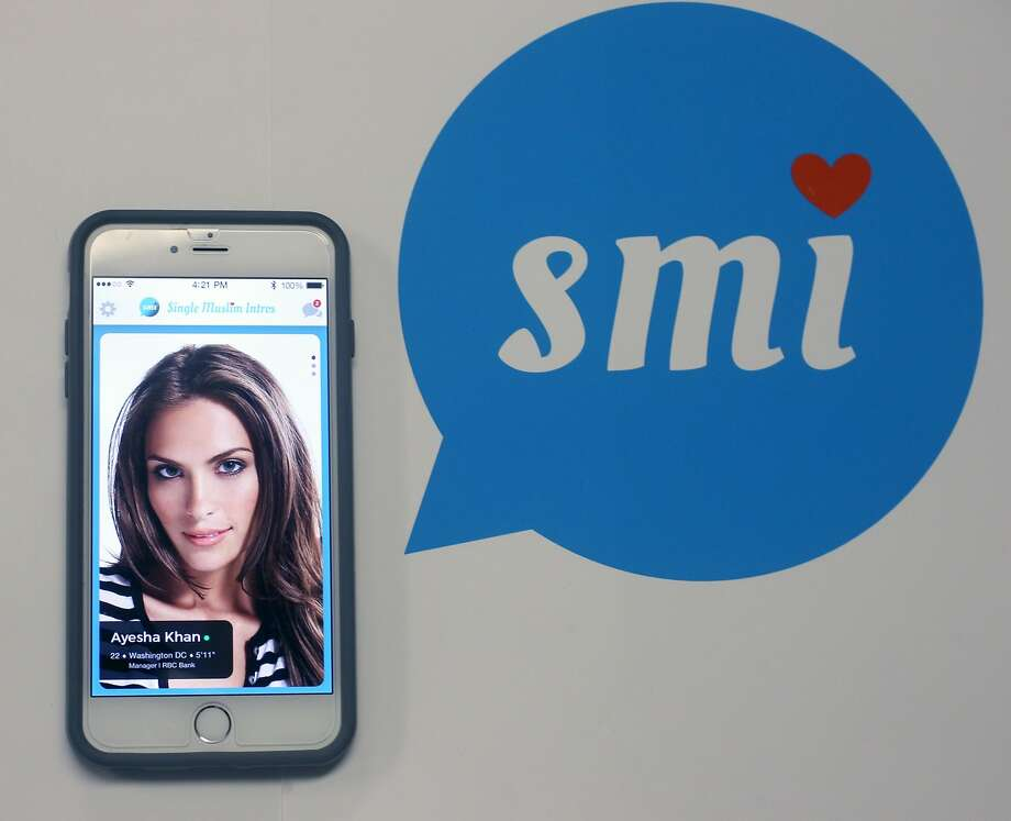 The app for Single Muslim Intros, which is a matchmaking concierge for college educated Muslims designed and created by Sobia Nasir, on October 23, 2015. Photo: Franchon Smith, The Chronicle