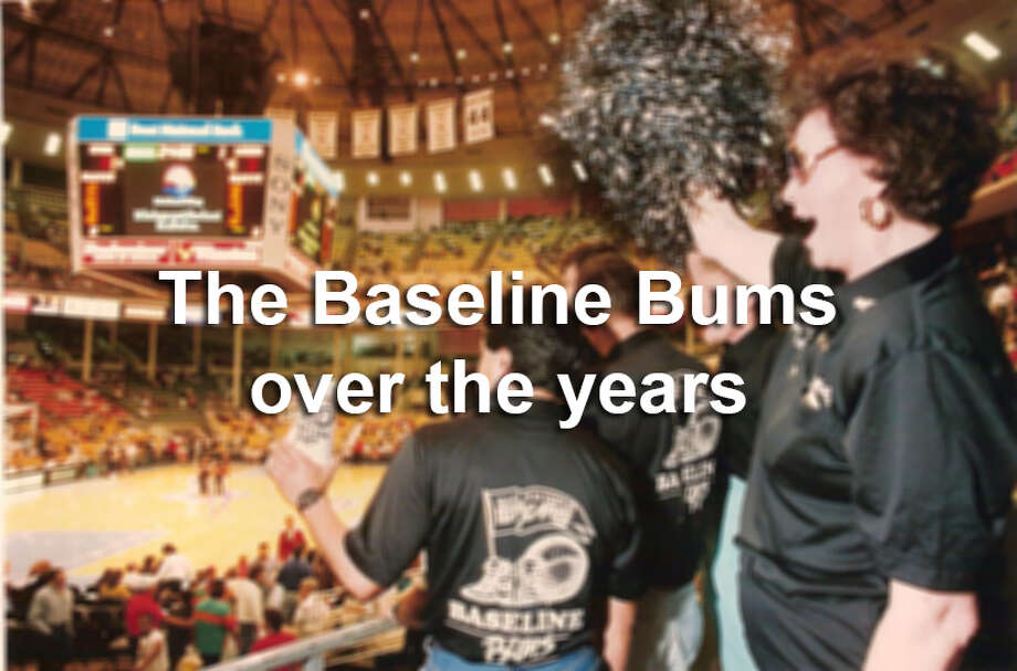 It hasn't always been easy to root for the Silver and Black, but the Baseline Bums have been there through thick and thin. Photo: San Antonio Express-News