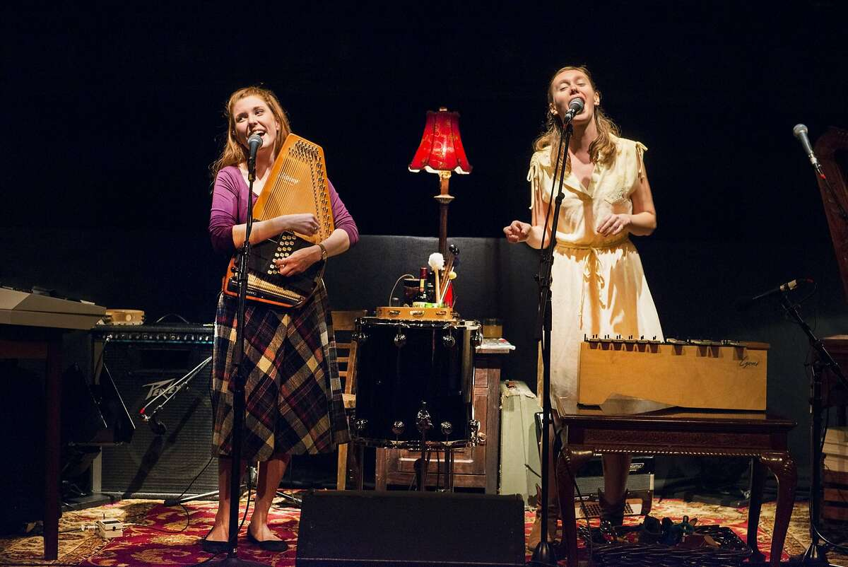 Brittian Ashford, left, and Gelsey Bell singing the stories of