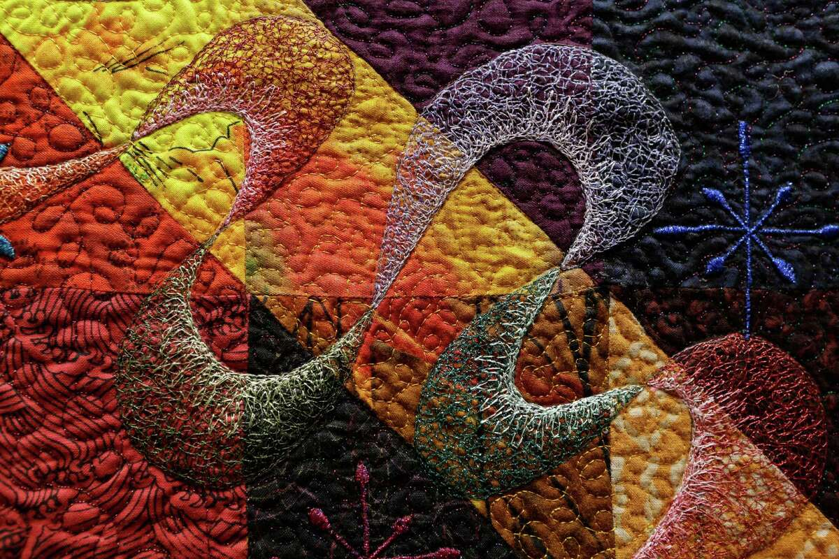 """Every inch of Lehman's quilt """"Joy Ride"""" was painstakingly crafted."""