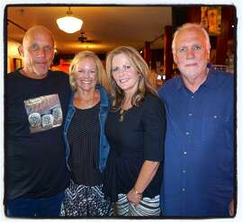 Love Harder Project founders Tim and Donna Flannery (at left) with Kathleen Dowling McDonough and Plough & Stars owner Sean Heaney. Oct 2015.