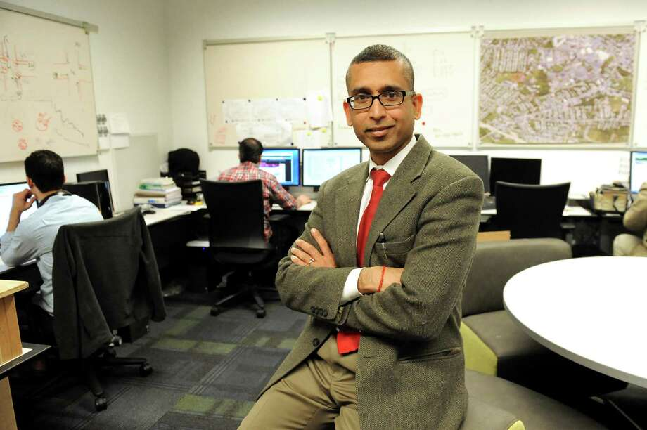 Sanjay Goel, associate professor of Information Technology Management, in the infrastructure lab in the School of Business on Tuesday, Nov. 25, 2014, at UAlbany in Albany, N.Y. (Cindy Schultz / Times Union) Photo: Cindy Schultz / 00029641A