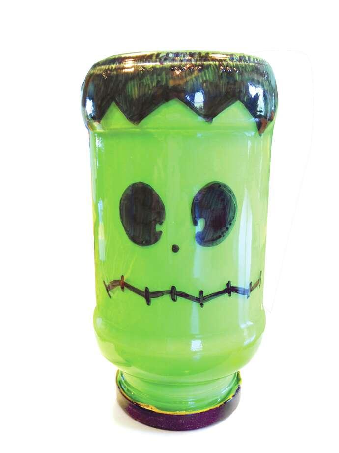 Frankenstein Glass jar Lantern (Carin Lane / Times Union)