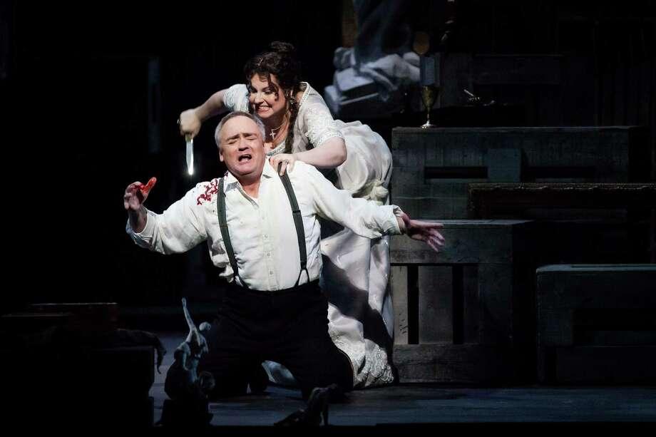 """Liudmyla Monastyrska and Andrzej Dobber star in Houston Grand Opera's """"Tosca"""" Photo: Lynn Lane / Lynn Lane"""