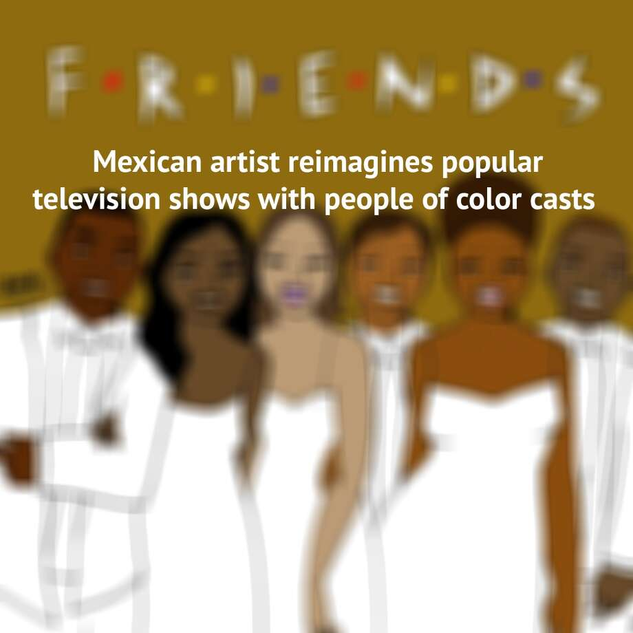 Artist Julio Salgado likes to make statements with his art. In this series which has swept the Internet he takes on popular TV shows with all-white casts.