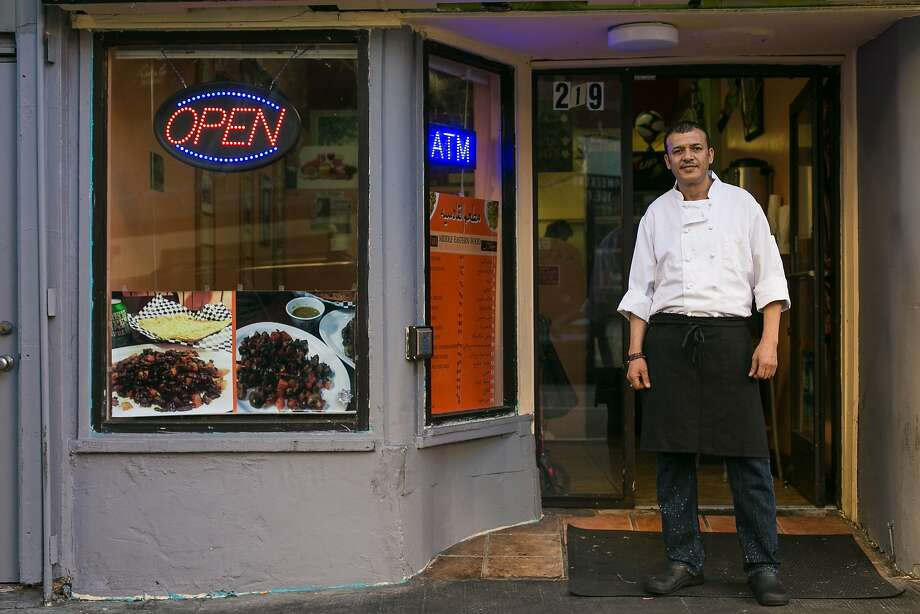 Abdul Al Rammah, owner of Yemen Kitchen, stands in front of his restaurant in the Tenderloin. Photo: Jen Fedrizzi, Special To The Chronicle