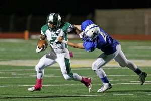 in the District 26-6A high school football game between Reagan and MacArthur at Comalander Stadium on Friday, October 23, 2015.