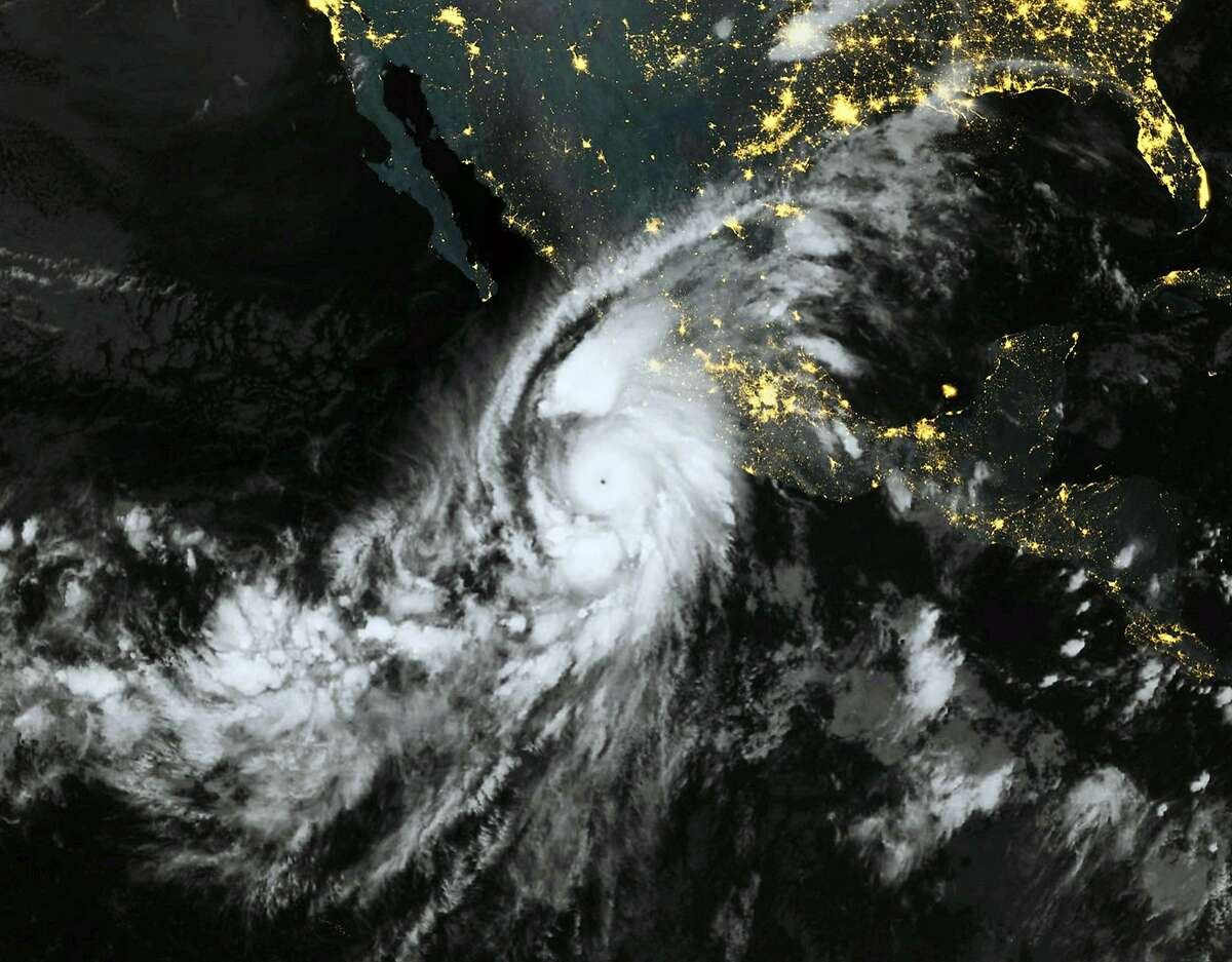 This October 23, 2015, 06:00 UTC Eumetsat satellite image shows category 5 Hurricane Patricia, off the Pacific coast of Mexico.