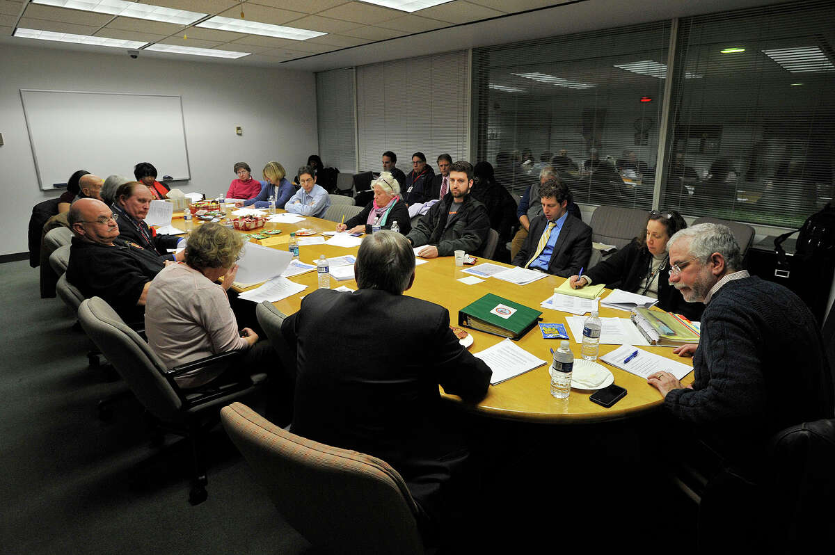The Board of Representatives so-called Pre-Steering Committee meeting convenes at the Government Center to discuss what agenda items will make it onto the full Board of Representatives agenda.