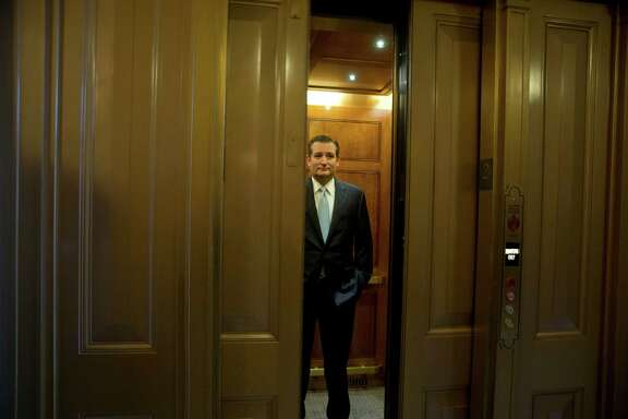 Sen. Ted Cruz (R-Texas) returns to his office after a vote on a temporary spending bill, on Capitol Hill in Washington, Sept. 30, 2015. With only hours to spare on the last day of the fiscal year, the Senate on Wednesday approved a temporary spending measure to avert a shutdown and keep the federal government operating through Dec. 11. (Stephen Crowley/The New York Times