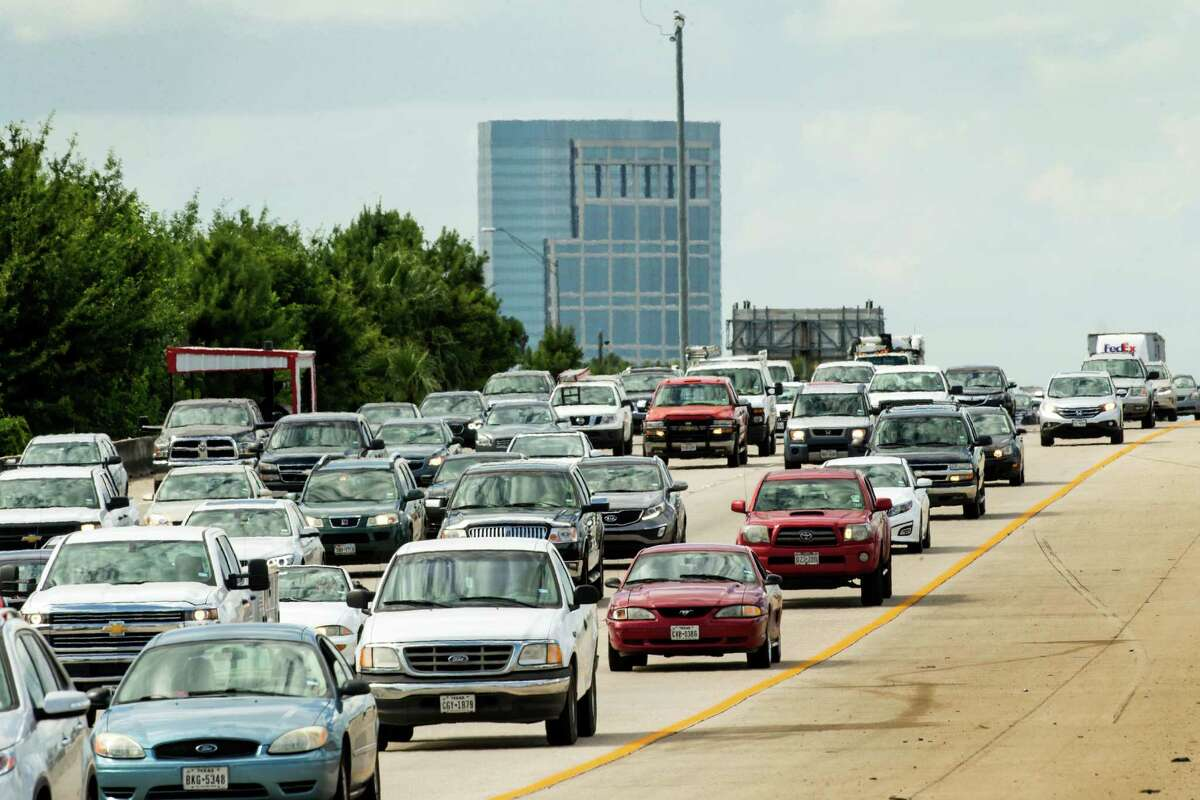 Commuters from The Woodlands area travel south on Interstate 45.