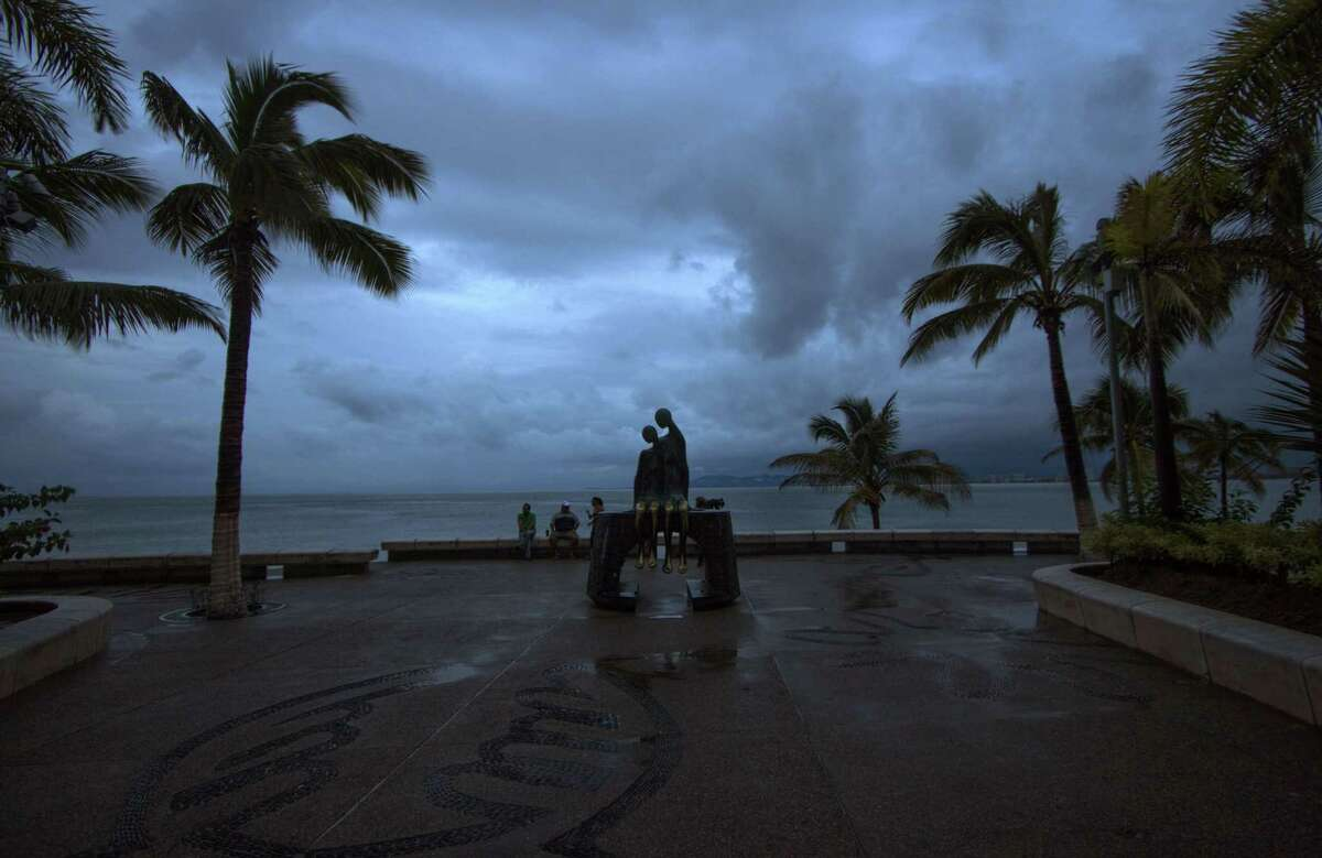 View of a breakwater after the arrival of hurricane Patricia in Puerto Vallarta, Mexico on October 24 ,2015. Record-breaking Hurricane Patricia weakened to a tropical storm over north-central Mexico on Saturday, dumping heavy rain that triggered flooding and landslides but so far causing less damage than feared. AFP PHOTO/HECTOR GUERREROHECTOR GUERRERO/AFP/Getty Images