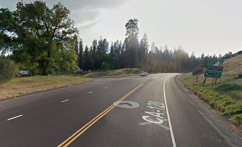 Five people were killed and two others were injured in a two-vehicle crash near Groveland west of Yosemite National Park on Saturday evening, the CHP said. Photo: Google Maps