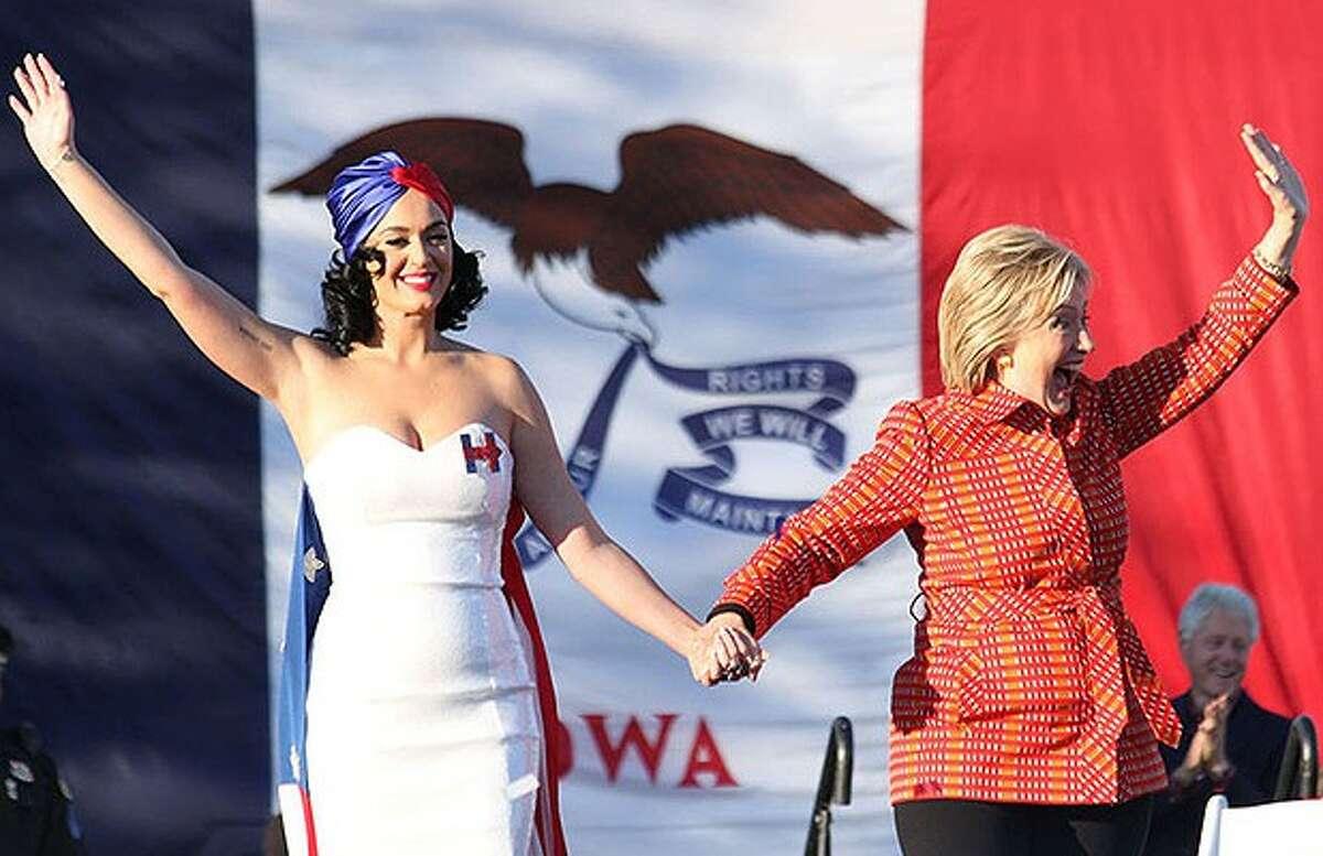 Celebrities who endorse Hillary Clinton Katy Perry, pop star